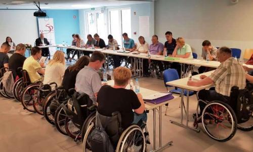 Skupščina je potekala v Domu paraplegikov Pacug