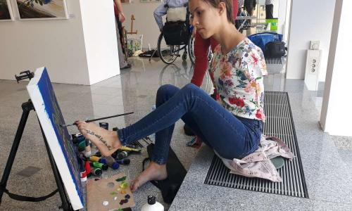Srbska slikarka Dejana Bačko